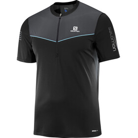 Salomon M's Fast Wing Half Zip SS Tee Black/Forged Iron
